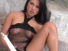 Horny Asian Girl Plays With Her Wet Pussy And She Likes It
