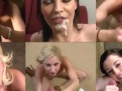 Ebony Jezabel Vessir steht einem Haufen weißer Kerle mit großen Schwänzen gegenüber