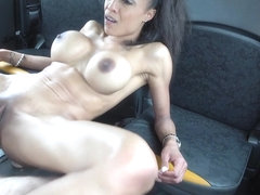 Tiny Ebony With Big Tits Has Facial - FakeTaxi