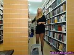 Hott Teen Girl Friend Plays With Herself In Library