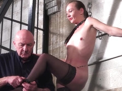 Stinging nettle bdsm and amateur milf slave Lolanis strict domination by cruel master in the dunge.