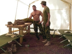 Big dick military anal sex and cum in mouth