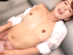 Oriental mom gets messy when sucking big dick