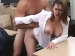 amateur business lady striped and fucked