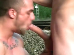 Publicly sucking dick