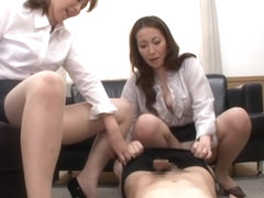 Naughty Asian babe Chisato Shohda and friend in mff trio
