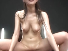 Naughty Japanese models enjoy a three way group party