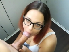 Homemade Blowjob and titfuck from a cute girl