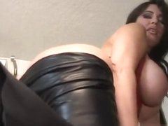 Girl Farting in Leather