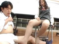 Best Japanese girl in Incredible Foot Fetish JAV video