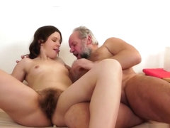 Hairy Teen Gets Pissed On