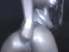 Roxy Raye body paint anal insertions