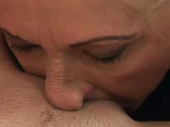 Horny grannies Anne Green and Sila pleasing each others pussy's