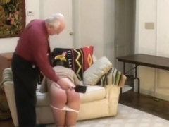 Old Master punishes his pretty black domestic slavegirl 1