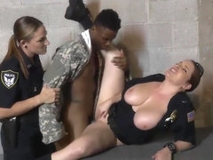 Corrupt Female Cops Use Fake Soldier As A Fuck Buddy