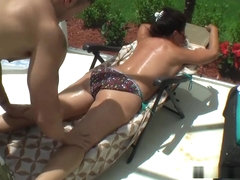 Margo Sullivan - Son Fucks Mom By The Pool