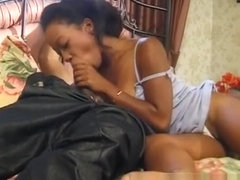 Wild ebony chick with a hot ass Adina Jewel loves them black and large