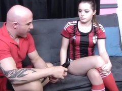 Soccer coach hypnotizes teen girl and shoves his cock in her mouth