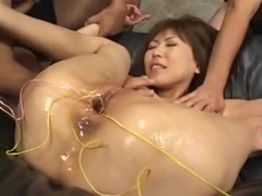 43yr old Japanese Mature Fucks Multiple Cocks (Uncensored)