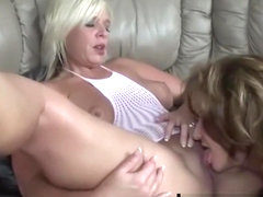 Texas Cougar Deauxma Licks Pussy With Milf Carey Riley!