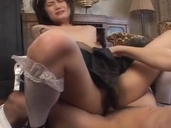 Cute Mako Takeda with cum on her titties