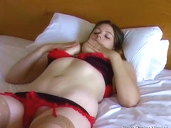 Flabby belly younger amateur with big areolas