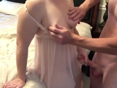 Cute Little Milf taking cock and wet pussy close up