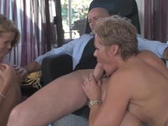 Exotic pornstars Kelly Leigh, Mark Davis, Aiden Aspen in Crazy Blowjob, Threesomes adult clip
