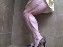 Yvette muscular calves bbw veiny legs shoes
