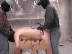 Kinky gay fucked and spanked in threesomeTwo kinky maksed dudes fuck one innocent tied guy up the .