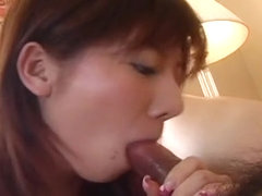 Sexy Aki Yatou ass fingering and cum slupring