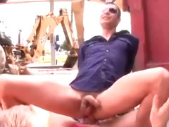Trendy gay gets inserted anally outdoor