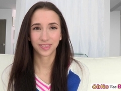 Beautiful Belle Knox gets slammed by a big dick and receives sticky load