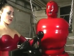 Rubber Doll Bondage and Breathplay