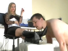 Slave Boots Licking