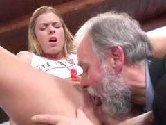 Teen Chrissy Fox Gets Doggystyled By Rich Old Guy