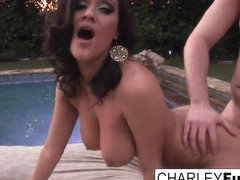 Charley Chase in Charley Gets Fucked Near The Pool - CharleyChase