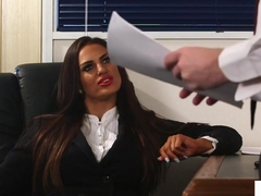 Brit Voyeur Instructs Sub To Jerk In Office