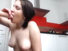 Beautiful Brunette Toys Her Pussy On Webcam Part 04