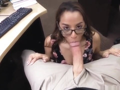 Seduces white milf College Student Banged in my pawn shop!