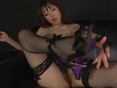 Asian Sexy Lingerie During The Slippery Masturbation Session