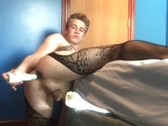 Gay bodystocking play