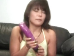 Asian Bimbo Fucking Herself With Sex Toys