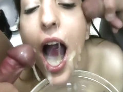 Massive Cumshots In My Girlfriends Mouth Compilation P2