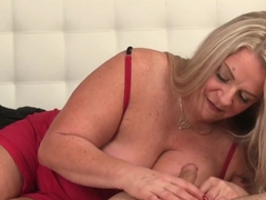 Huge Boobs Mature Titfucking Cock Outdoors