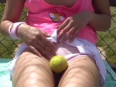 Vivid Video: Lady D Practices Tennis Game Then Gets Horny