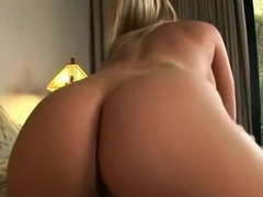 Beautiful platinum MILF Ahryan Astyn gives a magic BJ