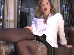Mistress T So Weak For Pantyhose