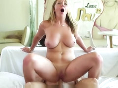 Busty Brooke Wylde is gobbling down some cock
