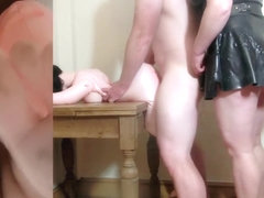 Chastity Release - Beta male husband fucks plastic pussy to extract semen